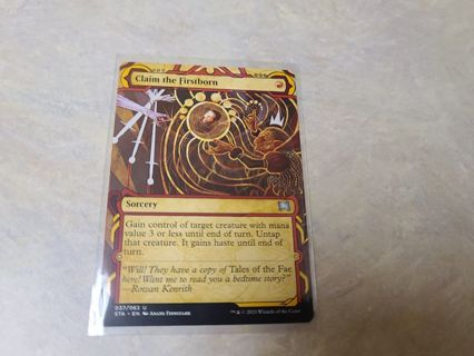 Magic the gathering mtg Claim the firstborn strixhaven