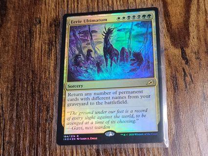 Magic the gathering mtg Eerie Ultimatum foil rare card