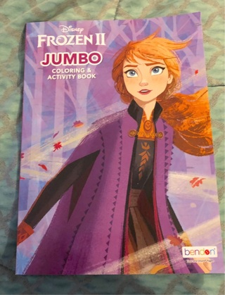 "BN Disney FROZEN Jumbo Coloring & Activity Book. 8x10"". 70+Pgs. FROZEN Crayons AuctionIng Also"