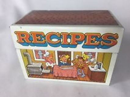 Vintage Kellogg's Metal Recipe Box