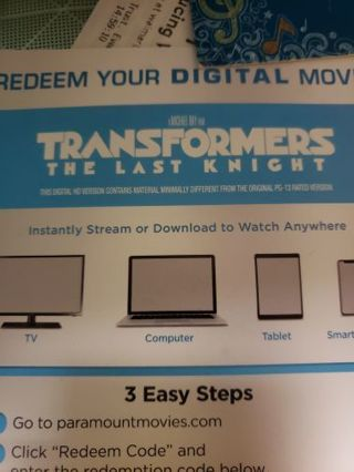 Transformers the last knight code