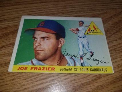 1955 Topps Baseball Joe Frazier #89 St Louis Cardinals,VGEX condition,Free Shipping!
