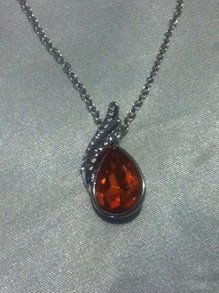 Fiery Genuine Swarovski pendant (Red/Orange)