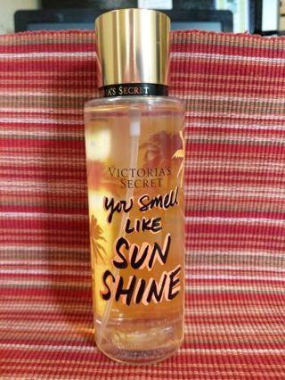 Victoria's Secret you smell like sunshine fragrance mist
