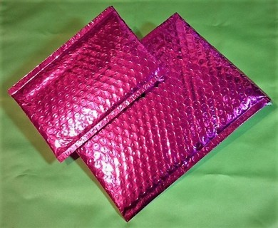 METALLIC PINK or GOLD Poly Bubble Mailers