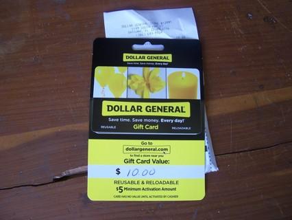 $10 Dollar General Gift Card