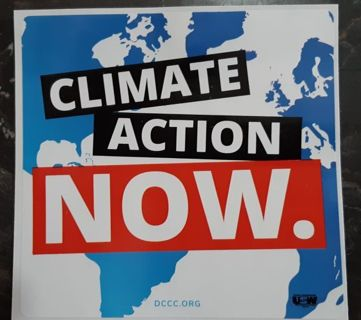 Collectable Political Decal-Climate Action Now