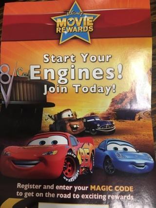 Disney Movie Reward Cars DVD