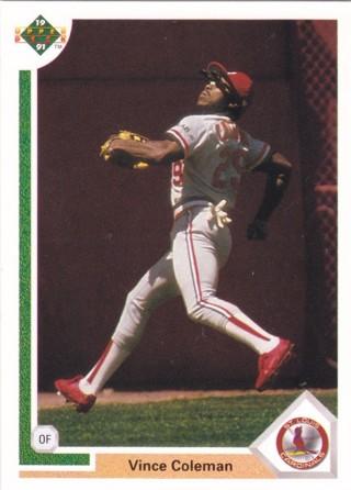 Vince Coleman 1991 Upper Deck St. Louis Cardinals