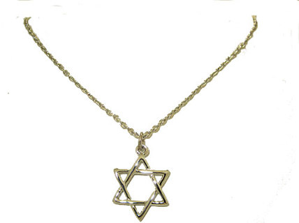 RELIGIOUS PENDANT NEW BOXED with chain STAR OF DAVID PENDANT