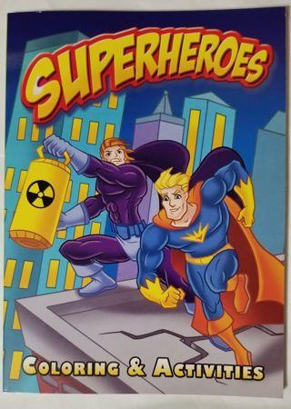 Superheroes Coloring & Activities Book