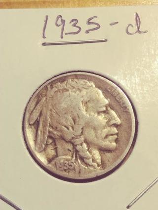 1935-D Buffalo Nickel! 68