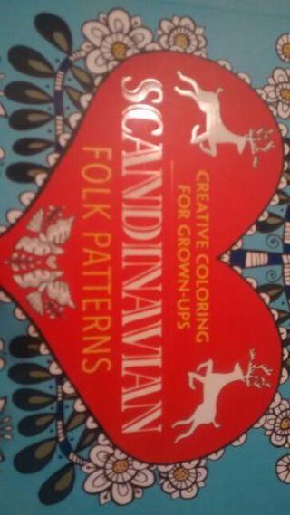 NEW- Scandinavian Folk Patterns- Adult Coloring Book