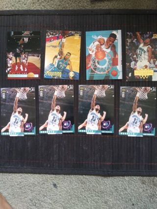 NBA 90's HTF Alonzo Mourning Lot Of 8 (Hornets)