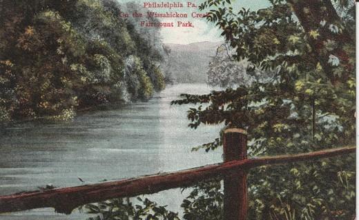 Vintage Used Postcard: Pre Linen: Wissahickon Creek, Fairmount Park, Philadelphia, PA