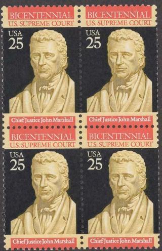 Scott # 2415 - U.S. Supreme Court - Block Of 4 - MNH -1989