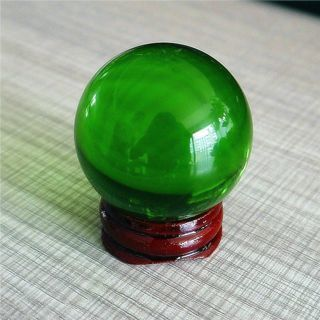 Rare Natural Quartz Green Magic Crystal Healing Ball Sphere 40mm + Stand