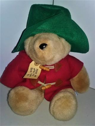 "Eden Toys PADDINGTON BEAR soft stuffed plush character doll - 15"" tall - VG condition"