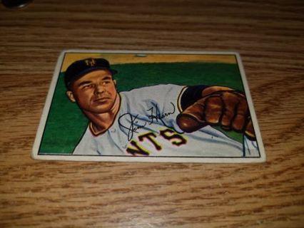 1952 Bowman Baseball Jim Hearn #49 New York Giants,VG condition,Free Shipping!