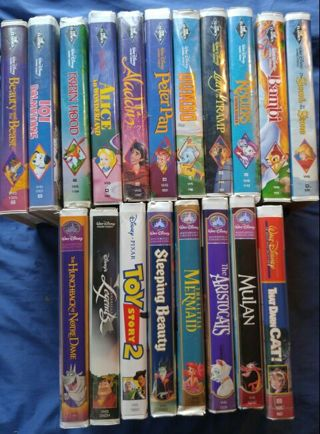free disney movie lot 20 vhs tapes 11 black diamond classics 5