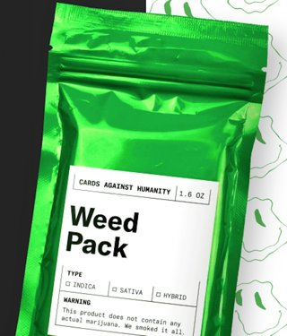 """BRAND NEW Cards Against Humanity Game 1.6 Oz. """"WEED PACK"""" Card Expansion Pack FREE SHIPPING"""