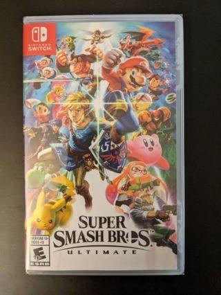 Nintendo switch game super smash Bros ultimate brand new sealed