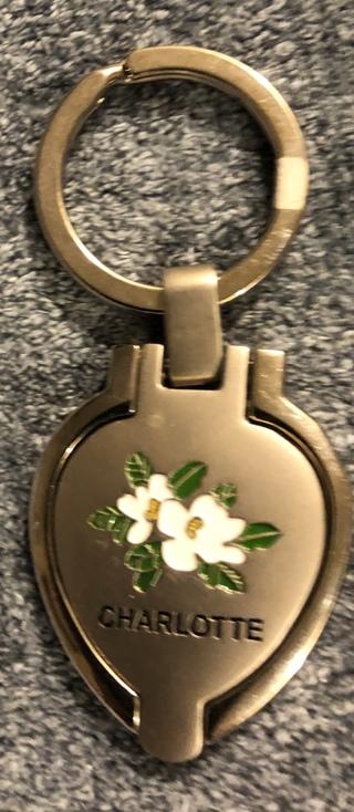 Brand New Charlotte, North Carolina Keychain - Locket. Free To Ship