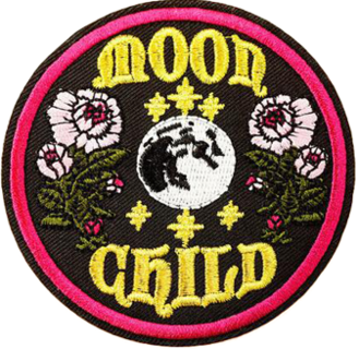 1 NEW MOON CHILD PATCH IRON ON PATCH EMBROIDERED APPLIQUE