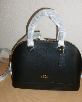 Coach Sierra Satchel Dome in Crossgrain Leather F37218 NWT $395