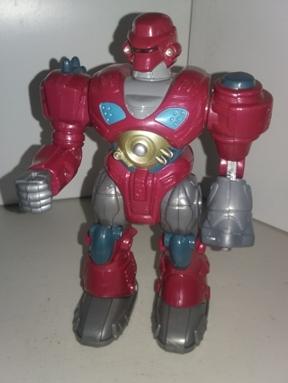 "HAP-P-KID MARS Cybotronic RED REVO Attack Squad walking Robot - 7"" tall - plastic - see video"