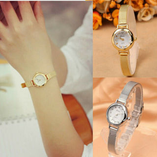 Fashion Women Watch Bracelet Stainless Steel Crystal Dial Quartz Wrist Watches