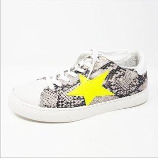NWOT Steven Madden Neon Star Snake Sneakers Size 9
