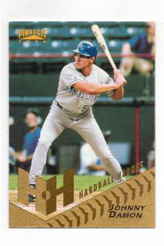 1996 PINNACLE HARDBALL HEROES JOHNNY DAMON ~ KANSAS CITY ROYALS