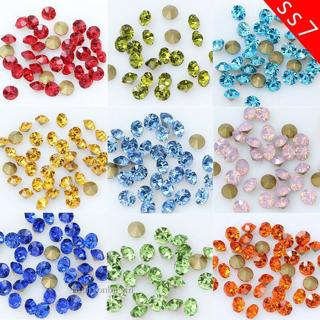 144/1440p ss7 Point Back Crystal Glass Rhinestones Chatons jewels Nail-Art Beads