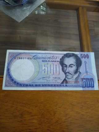 1990 Venezuela 500 bolivares
