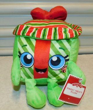 NEW SWEET TREAT Holiday BIG Eye PLUSH DOLL STUFFED DOLLY Cube Bow Girly