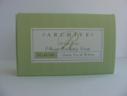 New Archive Green Tea Willow Relaxing Bath Soap with Shea Butter
