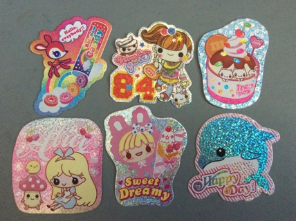 ☆ Vintage/Kawaii Lemon Co Glitter Sticker Flake from 10 Years Ago ☆ Choose One or More You Want ☆