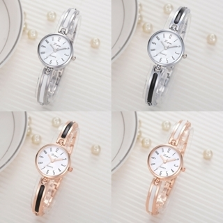 [GIN FOR FREE SHIPPING] Women Wrist Watch Retro Bangle Bracelet Round Quartz Analog