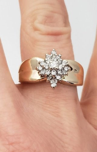 .46 CT. T.W. Diamond Composite Cluster Ring 14k Gold