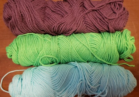 3 - Leftover Various Yarns - total weight 6 ozs