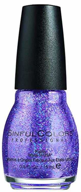 A BRAND NEW  BOTTLE OF SINFUL COLORS FRENZY NAIL POLISH WITH NAIL FILE