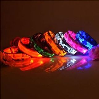 Glow Adjustable Pet Dog Cat Night Safety Collar Waterproof Nylon LED Lights