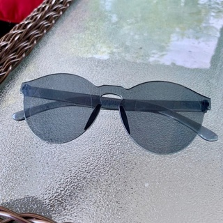 New Blulu Round Gray Rimless Sunglasses