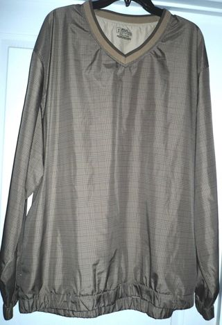 Men's PGA Tour V Neck Golf Pull Over Long Sleeve Shirt Size 2X/XX Large""