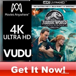 JURASSIC WORLD: FALLEN KINGDOM 4K MOVIES ANYWHERE OR VUDU CODE ONLY