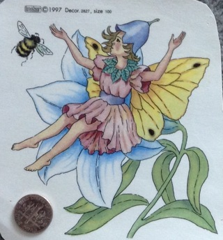 Flowers and Fairies Fired on Decal for Ceramics