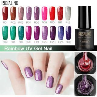 ROSALIND Nail Polish Gel Nail varnish hybrid 7ML Rainbow Vernis Semi Permanant Nail Art Manicure f