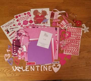 Valetine's scrapbooking/card making kit