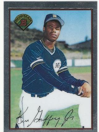 Free Not A Reprint 1989 Bowman Ken Griffey Jr